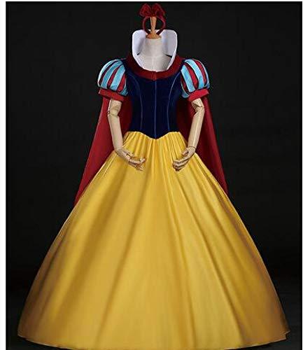 POIUYT Frau Halloween Cosplay Strumpfhose Schneewittchen Dress Anime Cosplay Kostüm Dress Erwachsene Fancy Dress Fluffa Dress,Yellow-L (Schneewittchen Family Kostüme)