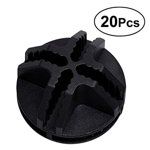 Vosarea 20 Stücke Draht Würfel Kunststoff-Anschlüsse für modulare Veranstalter Schrank und Drahtgitter Cube Speicher (schwarz) -