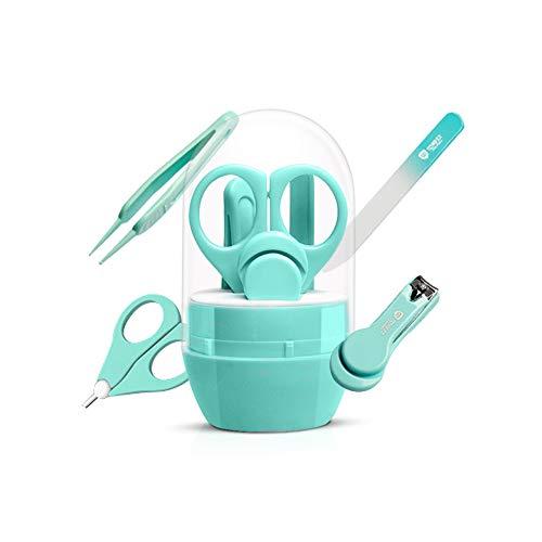 ZOCONE Baby Nagelpflege Baby Nagelschere und Baby Nagelknipser Babypflege Set, Baby Nagelpflege Set 4-teiliges für Neugeborene, Babys, Kleinkinder, Kinder (Grün)