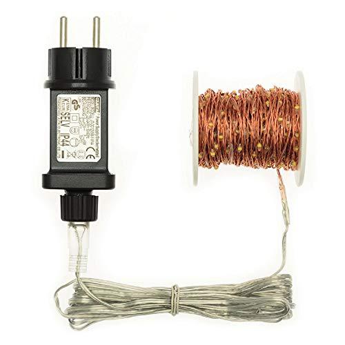 Gliederkette 500 microled Ø1,5 mm classic mit Kupferdraht - Länge: 37,5 m - Weihnachtsdekoration - Weihnachtsbeleuchtung
