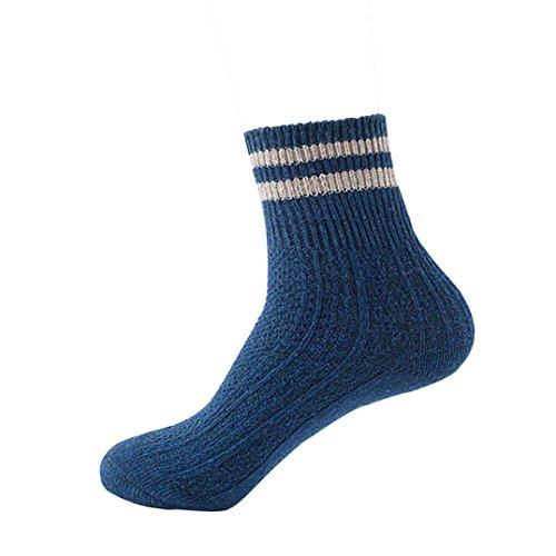 Sannysis Damen Kaschmir Wolle dicken warmen Socken (Dunkelgrau)