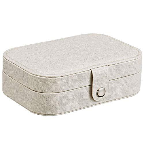 Tasquite Wiederverwendbar Schmuckschatulle Multi-Funktions-Ohrring-Ring-Aufbewahrungsbox Frische und einfache Mädchen-Ohrring-Platte Aufbewahrungskiste -
