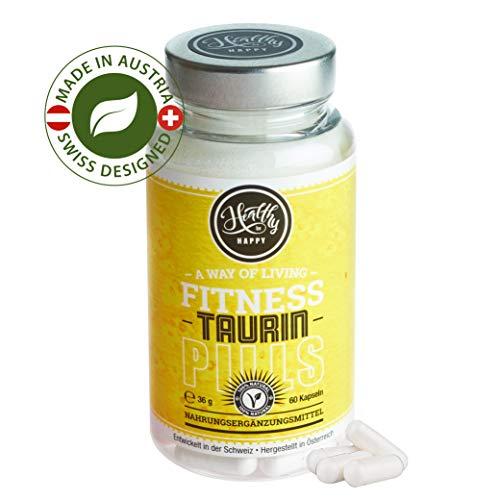 NATÜRLICHE Taurin, Vegan, ohne Magnesiumstearat, 60 Taurin-Kapseln