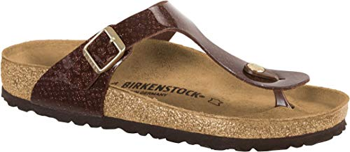 BIRKENSTOCK Gizeh Damen Zehensteg Sandalen Magic Snake Brown, EU 42 Brown Snake