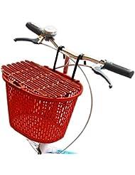 Canasta roja portátil colgante con labios para ir de compras y mascotas