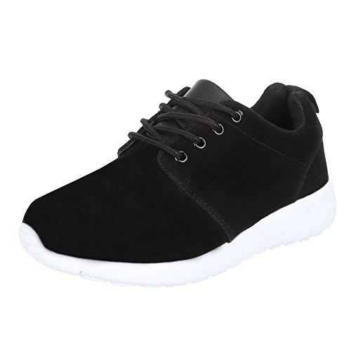 Damen Schuhe Trendige Sportschuhe Freizeitschuhe Schwarz