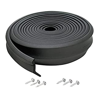 M-D Building Products 3749 Garage Door Bottom Rubber, 16 Feet, Black