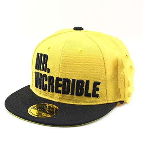 zhuzhuwen Kinderhüte, männliche und weibliche Buchstaben, Baseballmützen, farblich abgestimmte Hip-Hop-Hip-Hop-Hüte, Studentenhüte 2 48-56 cm
