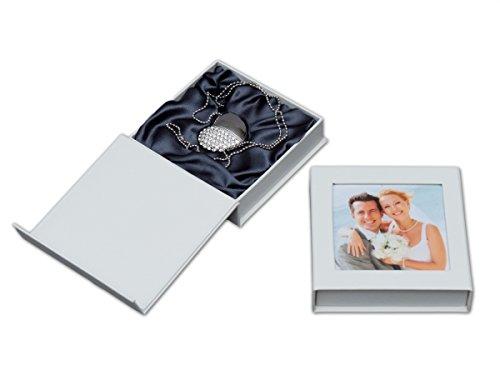 Elegantdisk USB-Stick Herz mit USB-Box. Hochzeit Design. Größe 16GB