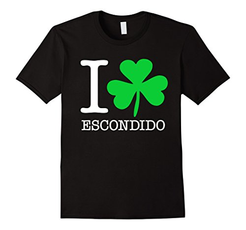mens-i-love-shamrock-escondido-funny-t-shirt-xl-black