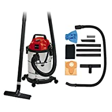 Einhell Wet and Dry Vacuum Cleaner TC-VC 1820 S (1 250 W, 20 l Stainless Steel Tank, Blow Connection, 4 Sastors, Diameter 36 mm Suction Hose + Extension, Floor Nozzle, Filters)