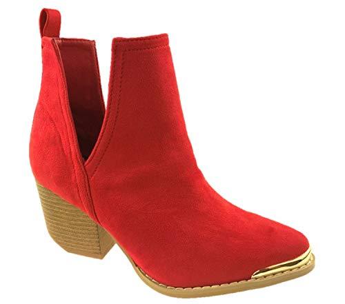 Generic ,  Damen Cowboy Stiefel, Rot - rot - Größe: EU 38