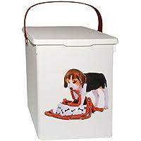 alles-meine.de GmbH Futterdose / Futterbox -  süßer Hund  - für Tierfutter - Hundefutter - 5 Liter - Vorratsdose / Aufbewahrungsbox - aus Kunststoff / Dose - Kiste mit Deckel u..