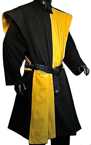 Muster Ritter Gewand Kostüm - WAFFENROCK TUNIKA RITTER RITTERKAMPF BAUMWOLLE LEINEN 1480 gelb - schwarz