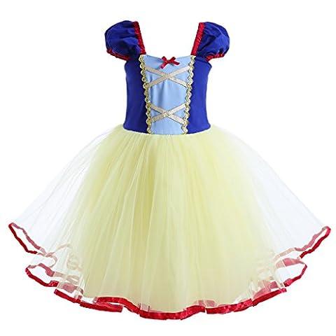 Pettigirl Robe de Soirée Filles Costume de Blanche-Neige Princesse Robes