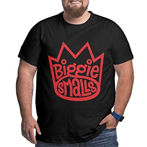 Eivan Herren T-Shirt Biggie Smalls Large Size Rundhalsausschnitt Baumwolle Kurzarm Shirt Gr. XL, Schwarz