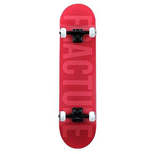 Fraktur Skateboards verblasst rot Factory komplett Skateboard 19,7cm (Verblasst Skateboard)
