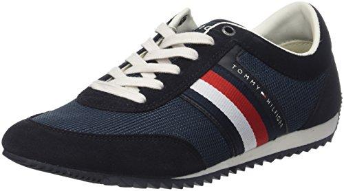 Tommy Hilfiger Corporate Material Mix Runner, Zapatillas para Hombre, Azul (Midnight 403), 44 EU