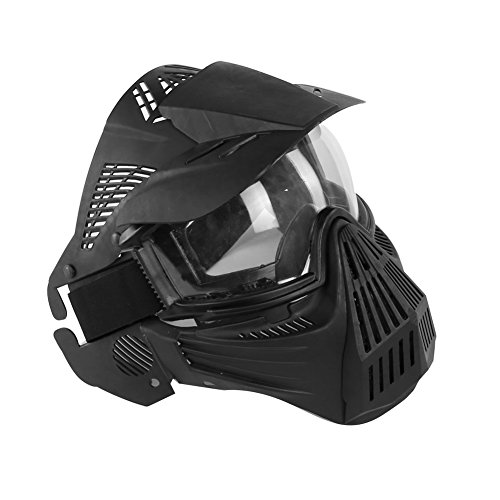 SGOYH Táctico Full Face Tactical Airsoft Clear máscara