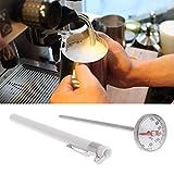 Hergon Edelstahl Küche Thermometer Sonde, Lebensmittel Fleisch Milch Kaffee BBQ Thermometer