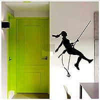 jqpwan Wall Sticker Vinyl Wall Decals Rock Climber Climbing Extreme Sport Decal Sticker Home Decor Art Mural Wall Decor 57 * 58Cm