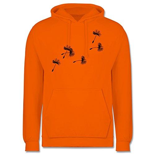 Statement Shirts - Pusteblume Löwenzahn Samen - XS - Orange - JH001 - Herren Hoodie