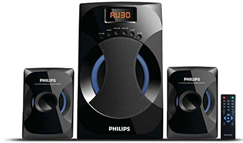 Philips MMS 4545B 2.1 Channel Speakers System  Black  Multimedia Speaker Systems