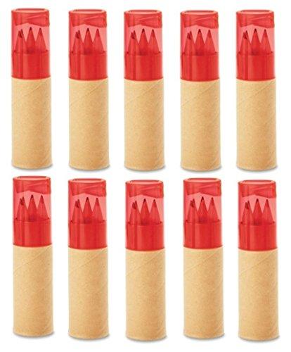 10 x Buntstifte Sets Roter Deckel Kinder Röhre Für Hochzeit Geschenk Geburtstag Party Beutel Mitgebsel