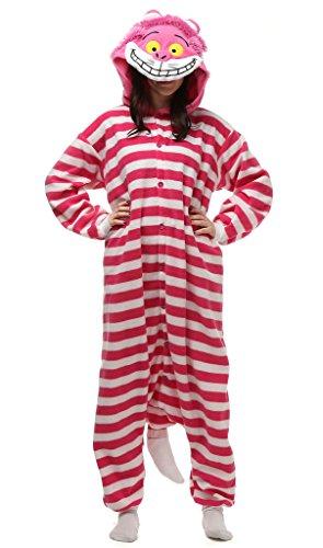 Unisex-adult Cheshire Cat Striated Cosplay-Kostüm-Karikatur-Schlafanzüge Pyjama Freizeitkleidung Lounge ()
