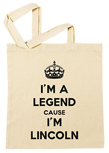 Erido I'm A Legend Cause I'm Lincoln Einkaufstasche Wiederverwendbar Strand Baumwoll Shopping Bag Beach Reusable