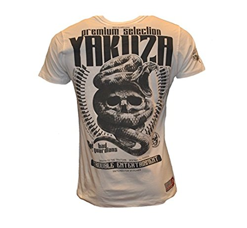 Yakuza Premium Herren Trouble Entertainment T-Shirt YPS-2201 Weiß