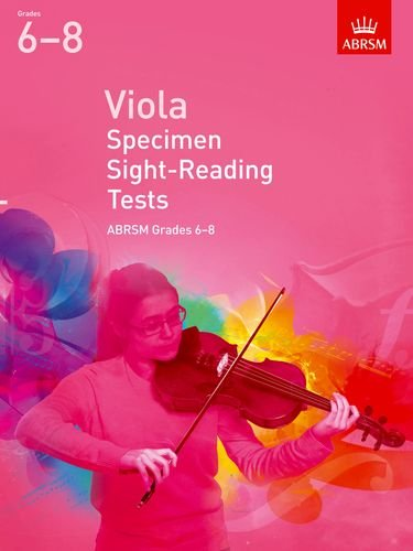 Viola Specimen Sight-Reading Tests, ABRSM Grades 6-8 Cover Image