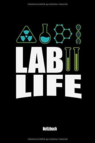 Lab Life Notizbuch: Lab Life Notitzbuch: 6x9 A5 Punktraster Punktiert Gepunktet Journal Oder Tagebuch Für Kinder, Männer und Frauen. (Journal Oder Tagebuch)