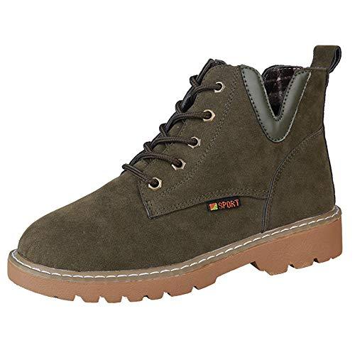 f90ac0aa66 BaZhaHei Donna Scarpa,Ragazza Stivali Scamosciato Fondo Piatto Corto  Boots,Invernali/Autunno Tacchi