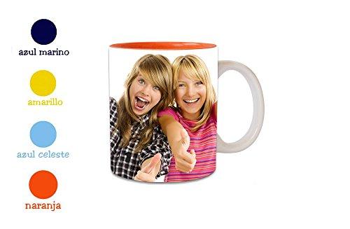 Tazas personalizada con tus fotos. Taza cerámica con diferentes color