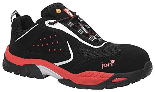 JORI jo_Active Low ESD S1P Herren Sicherheitsschuhe, Arbeitsschuhe, Sicherheitshalbschuh, Zertifiziert nach EN ISO 20345 : S1P, Kunststoffkappe (Schwarz), EU 39