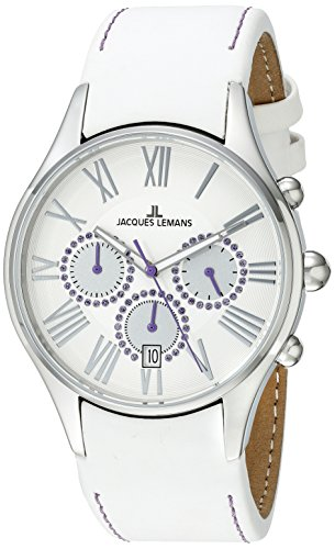 Jacques Lemans La Passion Damen-Armbanduhr Capri Chronograph Leder 1-1606M