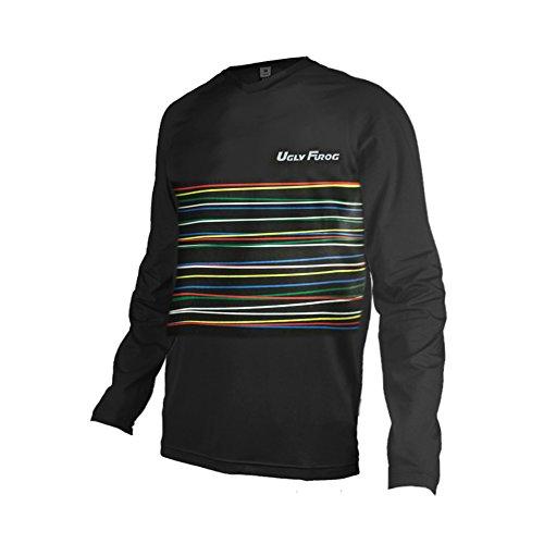 Uglyfrog Bike Wear Atmungsaktiv Trendy Herren Downhill/MTB Jersey Mountain Bike Shirt Fahrradtrikot Langarm Freeride BMX Frühling Top MF08 (Bmw Bike-trikot)