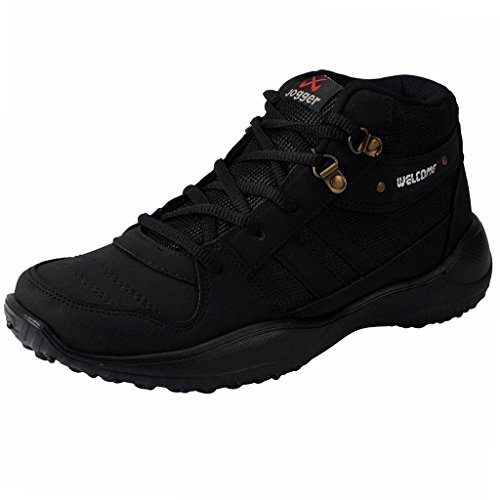 Welcome Men's Fitness Play Black Mesh Sports Shoes - 8 UK  available at amazon for Rs.578