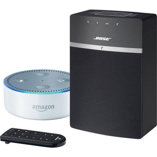 Bose SoundTouch 10 - Schwarz und Echo Dot (2. Generation) - Weiß