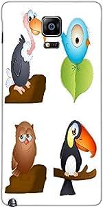 Snoogg Birds Vectors Designer Protective Back Case Cover For Samsung Galaxy N...