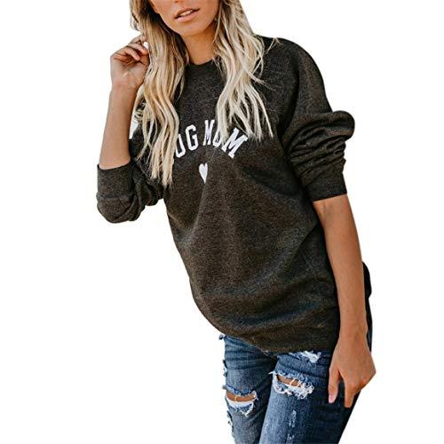Frauen Volle Ärmel Pullover Weibliche Spleißen Sweatshirt Brief Drucken Mode Brief Drucken Mode Langarm Bluse Tops Moonuy