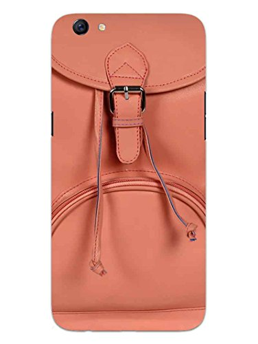 Oppo F3 Back Cover - Peach Handbag - I Love It - So Girly - Hard Shell Back Case
