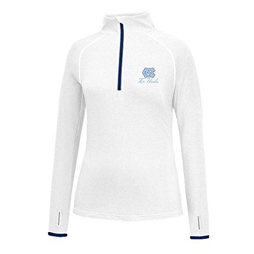J America NCAA Frauen 'S Script Logo Power Durch Poly 1/2Zip Jacke, Damen, Power Through 1/2 Zip, North Carolina Tar Heels, Small