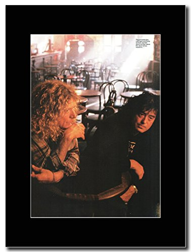 Led Zeppelin-Page &-Rock Gods Magazine Promo su un supporto, colore: nero