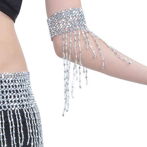 Vektenxi Bauchtanz Armband Handgelenk Armreif Tanz Schmuck für Party Favors Kostüme Accessoires Gold/Silber Langlebig und praktisch (Ballsaal Tanz Kostüm Tango)