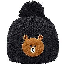 61b7aa4aa WOF Adorable bebé niño niña Gorro de Invierno cálido y Suave Lana de Punto  Crochet Gorro