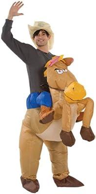 Paul Lamond Games - Disfraz de cowboy con caballo hinchable para adultos