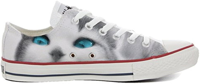 Converse All Star Personalisierte Schuhe   Handmade Shoes   Slim Katze mit Himmel Augen