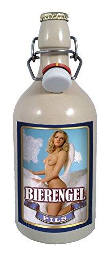 Bier Engel 0,5 Liter Tonflasche Bier mit Bügelverschluss